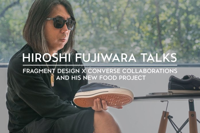 Hiroshi Fujiwara Talks fragment design x Converse Collaborations and His New Food Project