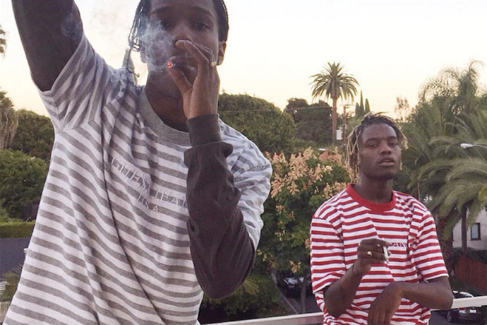 Ian Connor and A$AP Rocky Wear The A$AP Mob x Guess Collaboration