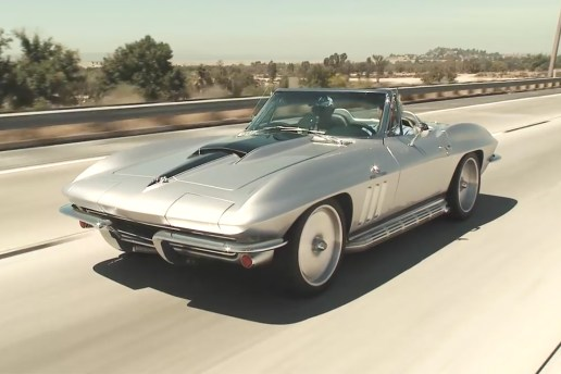 Jay Leno Takes Joe Rogan's 1965 Chevrolet Corvette Stingray Restomod for a Spin