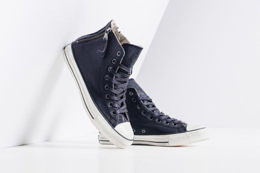 John Varvatos x Converse Leather Double Heel Zip Hi Navy