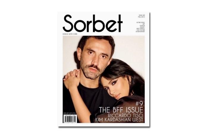Kim Kardashian-West and Riccardo Tisci Cover 'Sorbet Magazine'