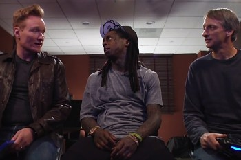Lil Wayne Plays 'Tony Hawk's Pro Skater 5' With Conan O'Brien and Tony Hawk