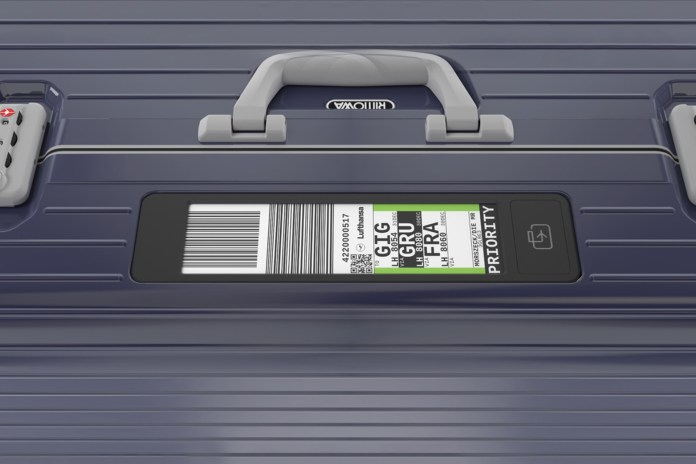 Lufthansa x RIMOWA Electronic Tags Make Your Check-In Process Easier