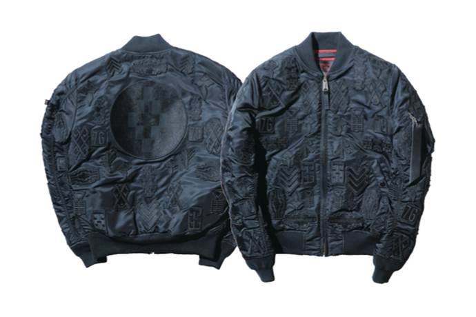 Marcelo Burlon x Alpha Industries 2015 Fall/Winter Patch Embroidery MA-1