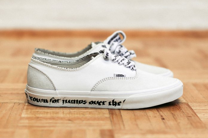 N.HOOLYWOOD x Vans 2016 Spring/Summer Authentic