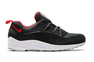 Nike Air Huarache Light Black/University Red-Wolf Grey