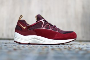 Nike Air Huarache Light Deep Burgundy/Metallic Gold-Team Red