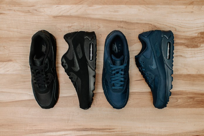 "Nike Air Max 90 Essential ""Black"" & ""Midnight Navy"""
