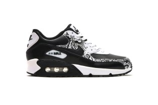 "Nike Air Max 90 PRM Leather GS ""Black/Black-White"""