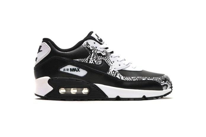 "Nike Air Max 90 PRM Leather GS ""Black/Black-White"""