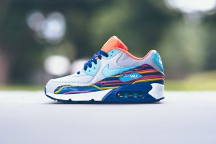 "Nike Air Max 90 ""Wolf Grey/Clearwater-Gold"""