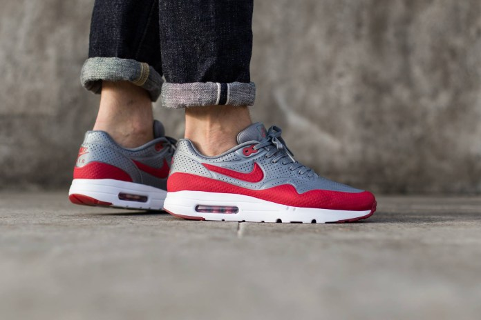 """Nike Air Max 1 Ultra Moire """"Cool Grey/Gym Red"""""""