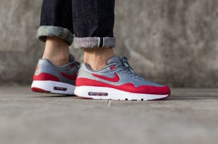 "Nike Air Max 1 Ultra Moire ""Cool Grey/Gym Red"""