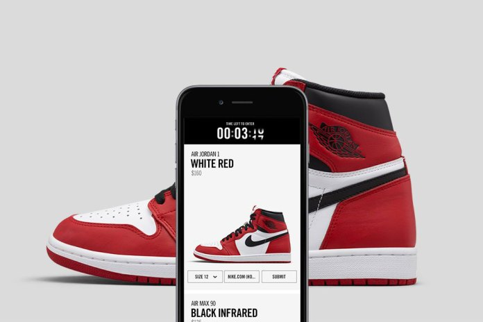 Nike Introduces Beta Online Drawing System to Reserve New Releases