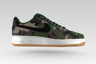 NIKEiD Air Force 1 Updated With Woodland or Digi Camo & Velcro Woven Patches