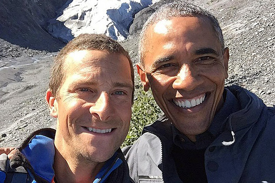 Watch President Obama Eat a Salmon Carcass With Bear Grylls