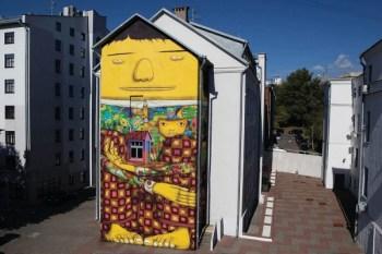 Os Gemeos Mural for Vulica Brasil Festival