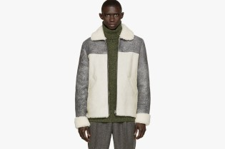 Pigalle 2015 Fall/Winter Grey Shearling Bomber