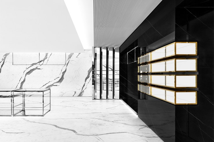 saint laurent omotesando flagship hypebeast. Black Bedroom Furniture Sets. Home Design Ideas