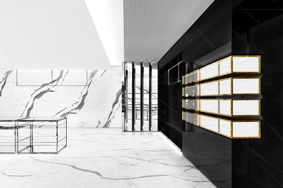 saint laurent hong kong concept store hypebeast. Black Bedroom Furniture Sets. Home Design Ideas