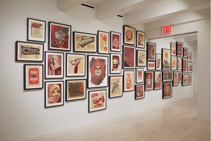 Shepard Fairey 'On Our Hands' Exhibition at Jacob Lewis Gallery