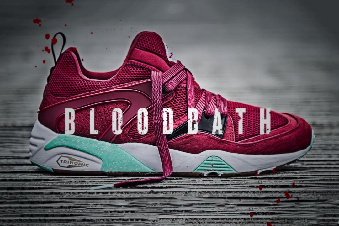 """Sneaker Freaker x Packer Shoes x PUMA Blaze of Glory """"Bloodbath"""" Trailer"""