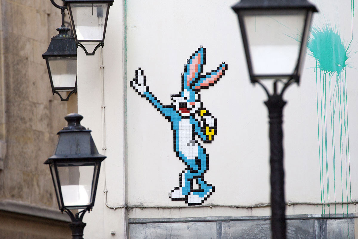 Invader Takes Over Paris