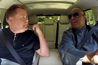 "Stevie Wonder Does ""Carpool Karaoke"" on 'The Late Late Show With James Corden'"