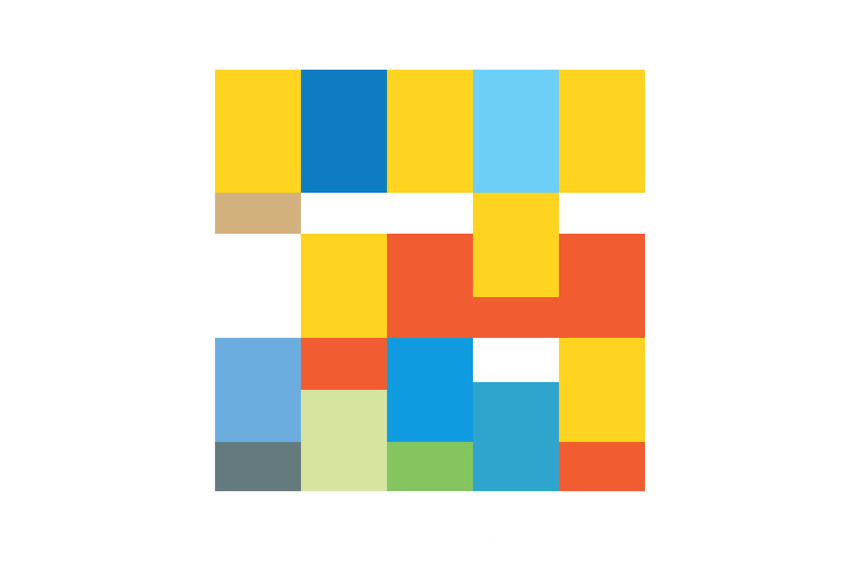 The Simpsons Reimagined as Pantone Color Schemes