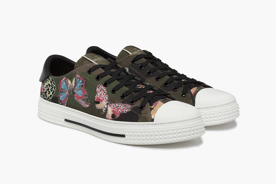 "Valentino 2016 Spring ""Butterfly Print"" Sneaker"