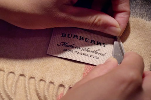 Watch How the Iconic Burberry Scarf Is Made
