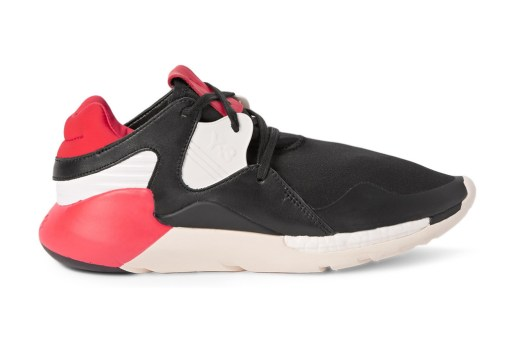 Y-3 Boost QR Leather and Neoprene Sneakers