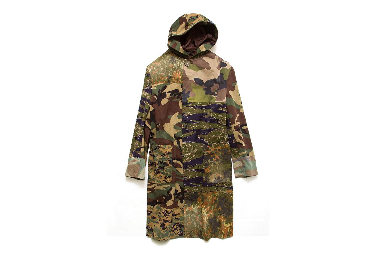 Yohji Yamamoto Camouflage Hooded Coat