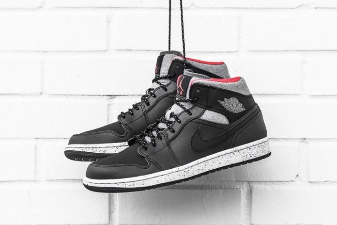 Air Jordan 1 Mid Black/Dark Grey/Infrared 23