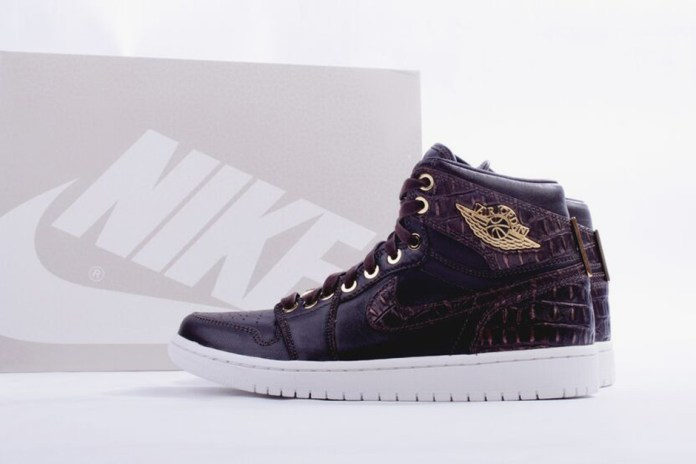"Air Jordan 1 Pinnacle ""Brown Croc"""