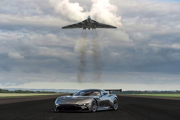 Aston Martin Vulcan Meets Its Namesake Jet Fighter