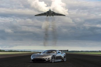 Aston Martin Vulcan Meets Its Namesake Jet Fighter
