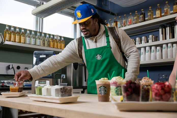 """Marshawn Lynch and Starbucks Introduce the """"Beast Mode"""" Frappuccino"""
