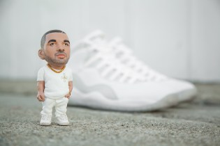 BAIT and Plastic Cell Create a Hand Painted Drake Sculpture for OVO x Jordan Special Release Tee