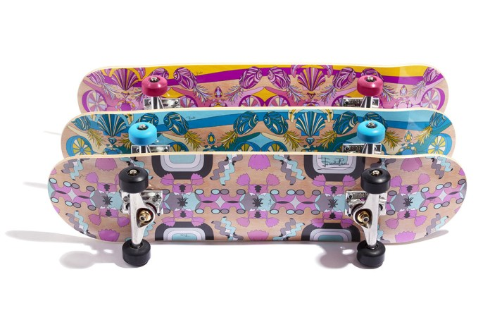 Emilio Pucci Skate Deck Collection Turns Pasta and Ice Cream Into Geometric Patterns