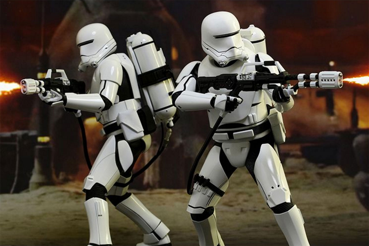 "Hot Toys 'Star Wars: The Force Awakens"" First Order Flametrooper 1/6th Scale Collectible"