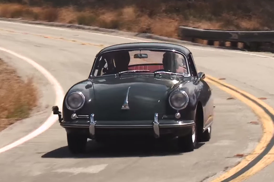 Jay Leno Takes a Ride in a 1964 Porsche 356C