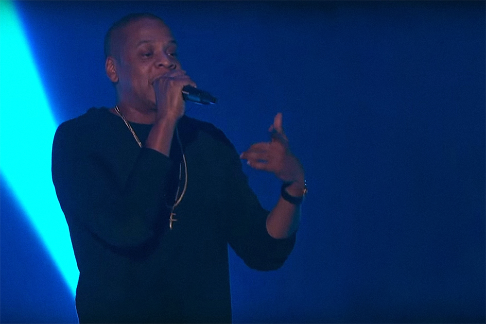 Jay Z Sits Down With Jimmy Kimmel at the Brooklyn Academy of Music