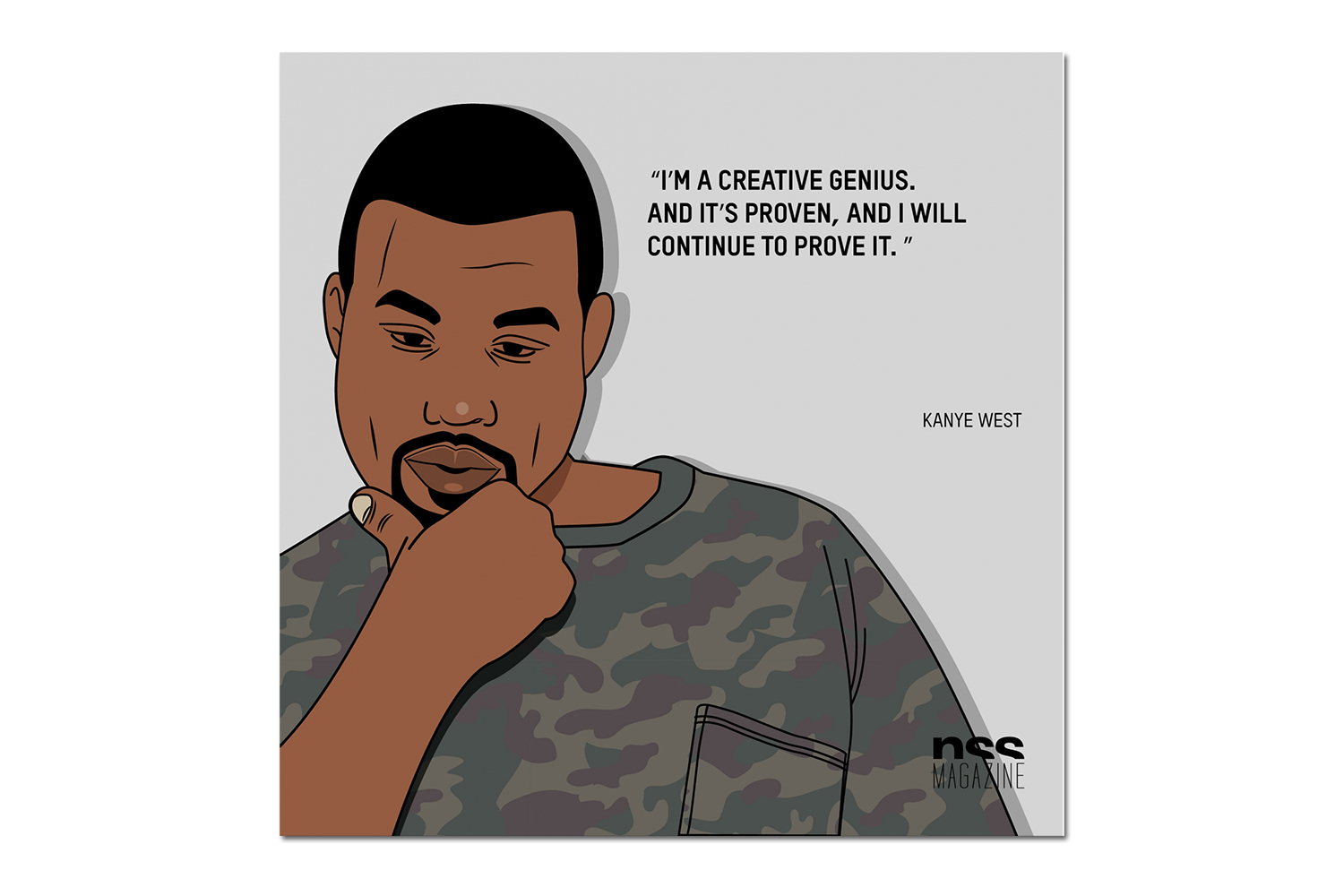 The Best Kanye West Quotes From His SHOWstudio Interview Turned Graphic Art
