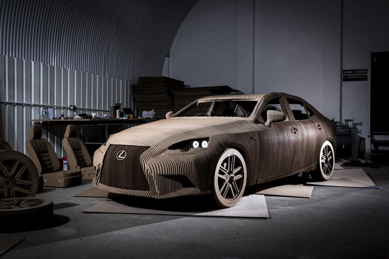 Lexus Creates a Fully Drivable Cardboard Car