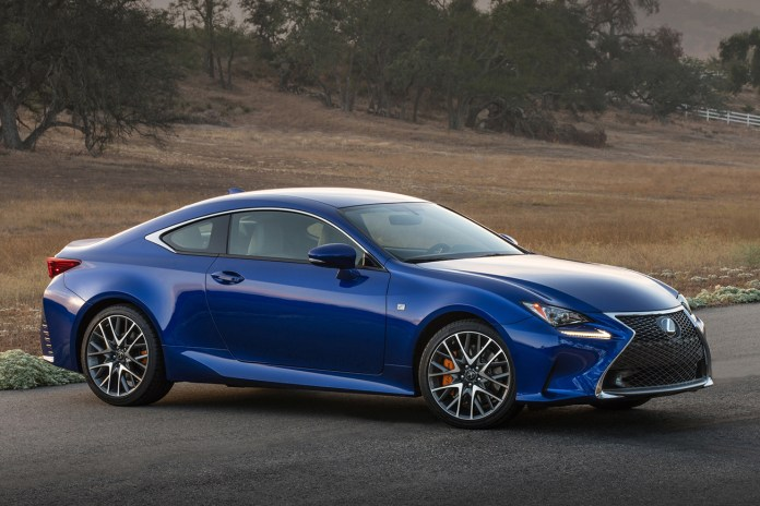 Lexus Upgrades its RC Coupe Line with Turbocharged Engine and V6 AWD