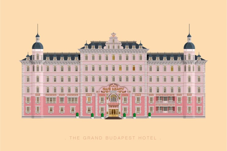 Minimalist Illustrations of Famous Movie and TV Sets