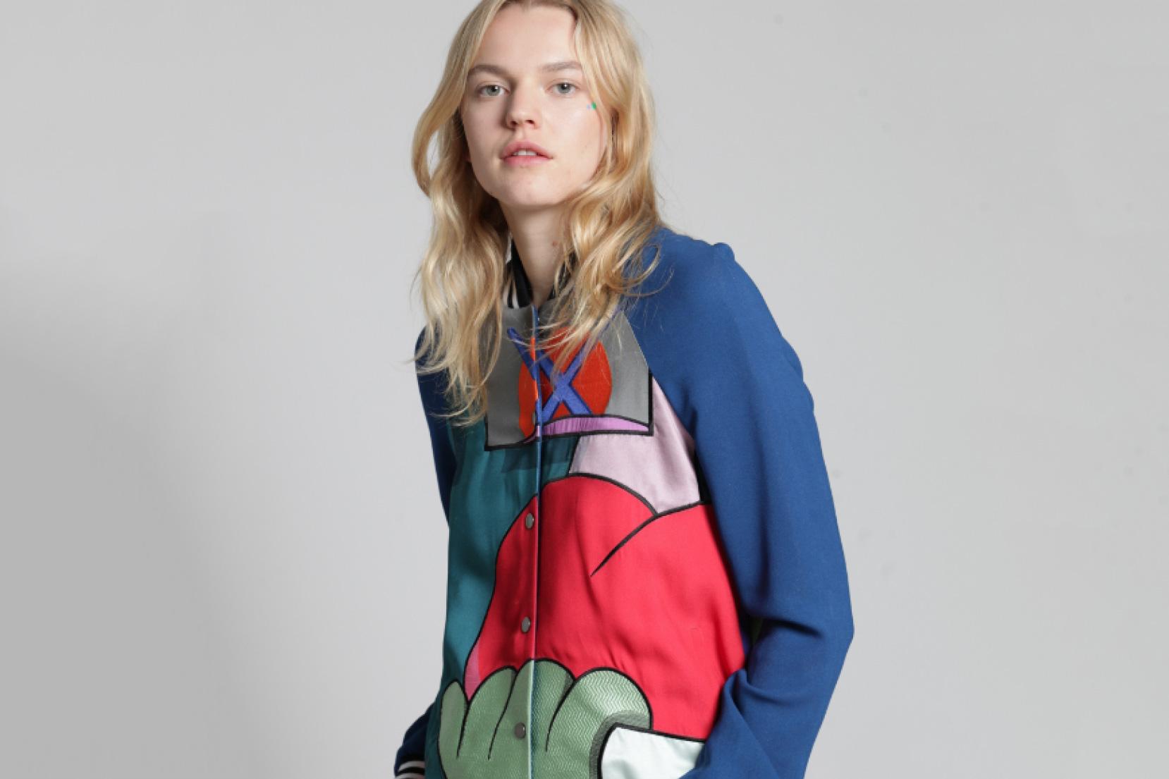 KAWS x Mira Mikati Collaboration Varsity Jacket
