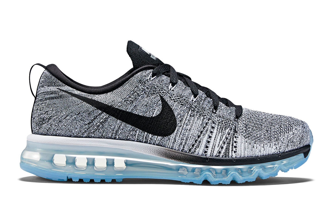 Nike Flyknit Air Max White/Cool Grey/Wolf Grey/Black