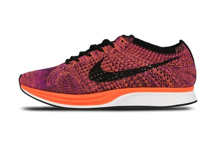 Nike Flyknit Racer Black/Hyper Orange-Vivid Purple